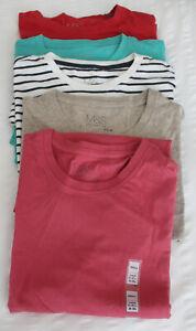 Para-Hombre-M-amp-S-Coleccion-Tallas-S-M-L-XL-Puro-Algodon-Camiseta-Calce-Ajustado