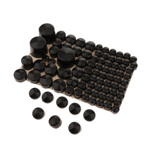 Black Motorcycle Screw Nut Cover Bolt Cap for Harley Touring 1994-2017