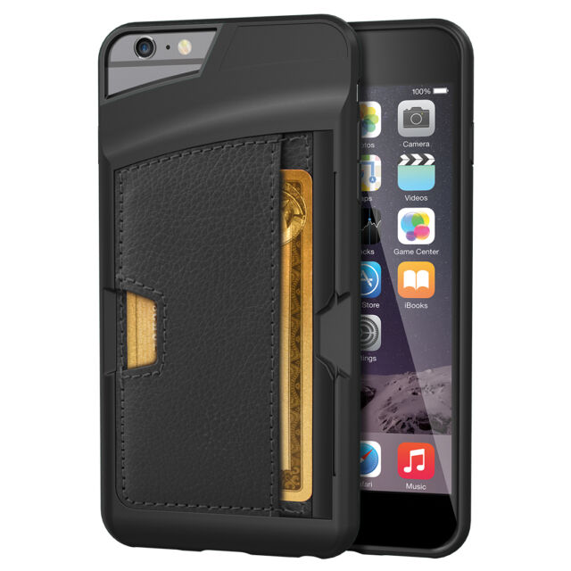 finest selection 83d68 b9adb iPhone 6s 6 Plus CM4 Q Card Case Black Wallet Kickstand Drop Screen  Protection