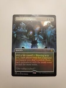 English MTG Double Masters Borderless NM 1x Council/'s Judgment Foil