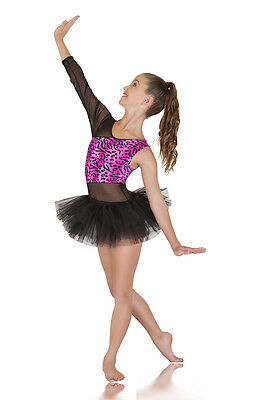 Dance Costume: Fierce, Hot Pink & Black Jazz Contemporary Costume