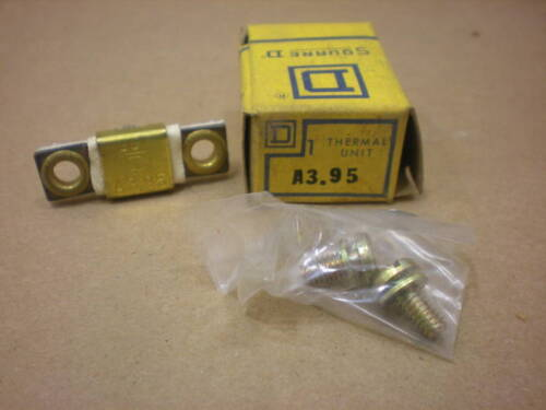 3 LOTS AVAIL LOT OF 5 NIB SQUARE D A3.95 A 3.95 OVERLOAD RELAY THERMAL UNIT