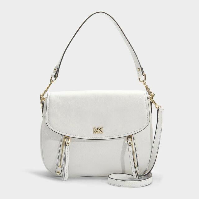 823999fa20c Michael Kors White Leather Evie Flap Shoulder Bag 30S8GZUF2L