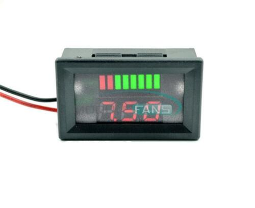 Red Charge Level Red Indicator Voltmeter Stable for 6V Lead-acid Battery MF