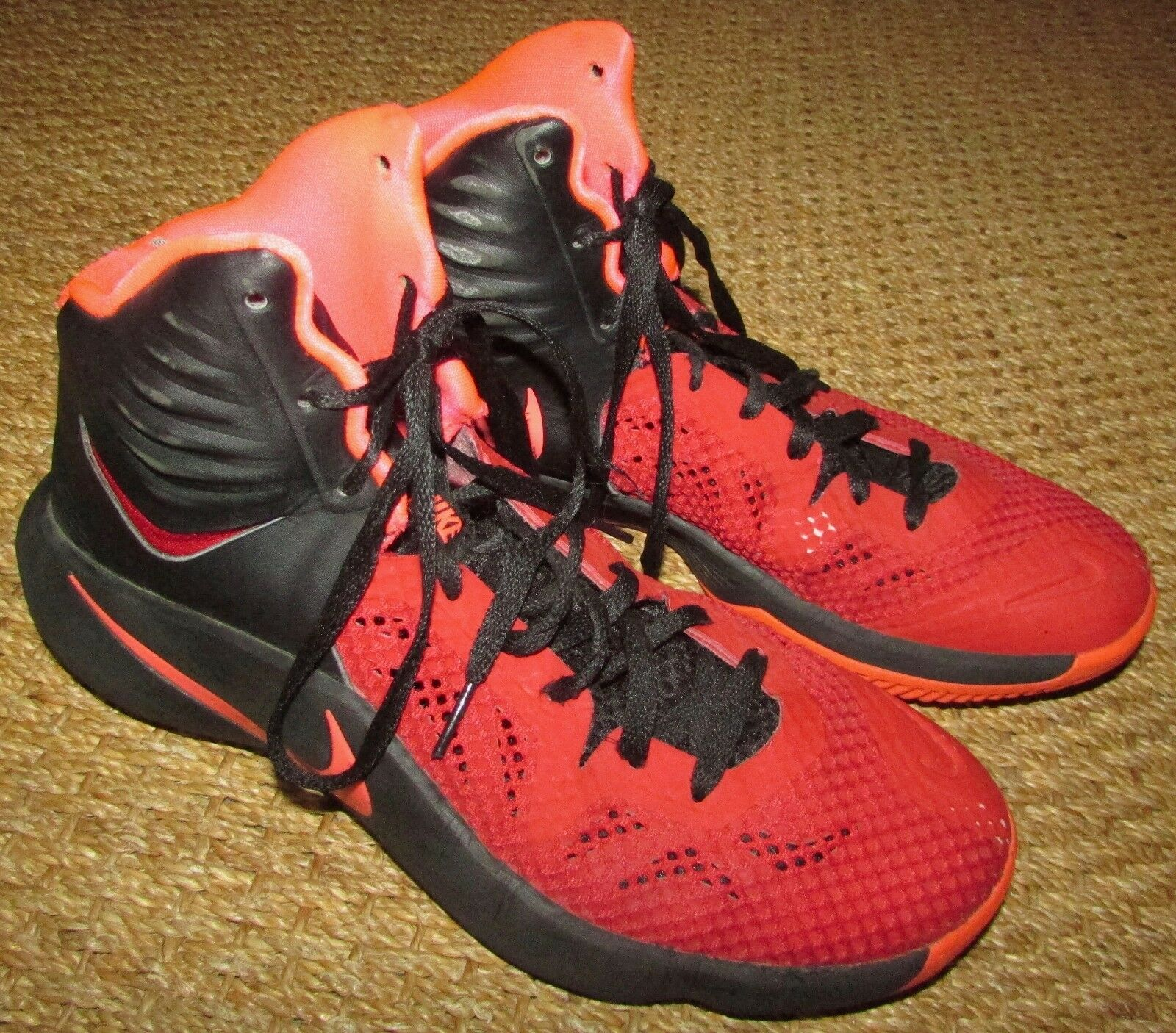 Nike Zoom Hyperfuse 2014 Mens Basketball Shoes Black Red 684591-066 Comfortable