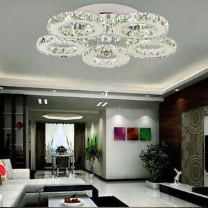 Image Is Loading 40w Led Ceiling Lights Crystal 5 Light Modern
