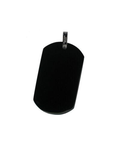 Dogtag Ketten-Anhänger 37x22 mm schwarz glänzend für Halskette Akzent