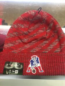 1d0732f15 2018 New England Patriots New Era TD Knit Hat Field Sideline Beanie ...