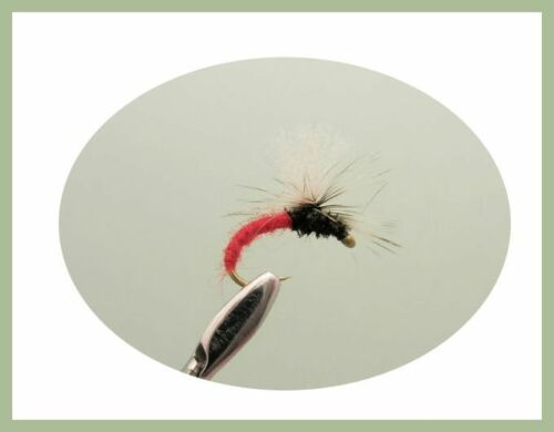 Trout or Grayling Fishing Flies Tan /& Olive Klinkhammers Mixed size 12 Red