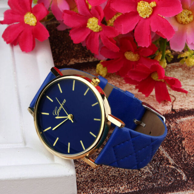 Unisex Quartz Analog Wrist Watch Casual Leather Band Watches Women Dress Watches