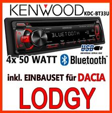 Dacia Lodgy - KENWOOD Bluetooth AUTORADIO USB CD MP3 Android Radio - EINBAUSET