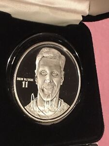 Drew Bledsoe QB New England Patriots NFL 1 Troy Oz .999 Fine Silver Round Coin