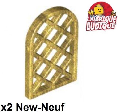 Lego 2x window fenêtre 1x2x2 2//3 shutter volet grille or doré//gold 30046 NEUF