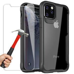 Armor-Coque-iPhone-11-Pro-Max-6-7-8-XR-XS-X-Housse-TPU-Vitre-En-Verre-Trempe