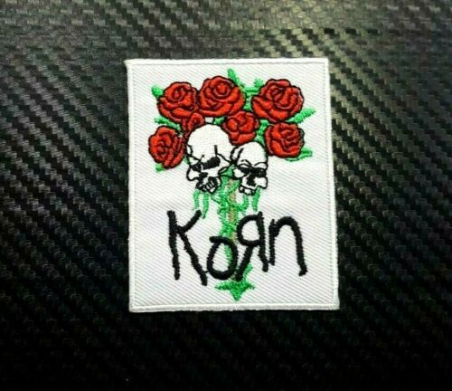 ROCK MUSIC HEAVY KORN METAL BAND WOVEN BADGE Embroidered Iron Sew On Patch Logo