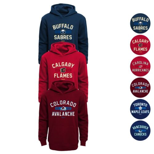 "4-7 Reebok NHL Reebok /""Todays Highlights/"" Pullover Hoodie Collection Boys"