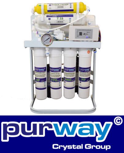 Allo stato puro BOOSTER Quick 7 livelli Direct Flow Umkehrosmose appendice 400 GPD senza serbatoio