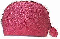 Mac Rihanna Cameo Keepsakes Viva Glamorous Sparkly Glitter Red Zip Makeup Bag