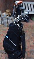 Set mens Wilson golf clubs irons Taylormade driver woods putter + bag
