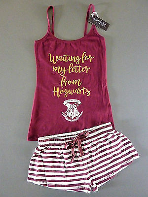 Harry Potter Damen Pyjama Kurz Schlafanzug Shorty Hogwarts Brief L-xl Primark 2019 Offiziell