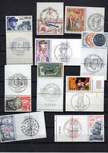 9-timbres-neufs-avec-obliteration-1er-jour-sur-bord-de-feuille-philatec-1964