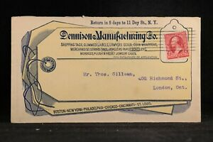 New-York-NY-City-1900-Dennison-Both-Sides-Advertising-Cover-Allover-String-Tag