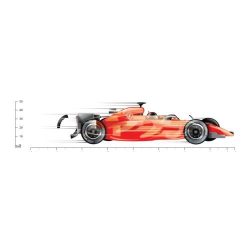 Red F1 Race Car Wall Sticker WS-41173