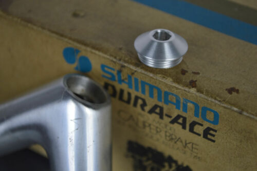 dust cap for stem Shimano Dura Ace 600 AX EX aero metal Alloy replacement new
