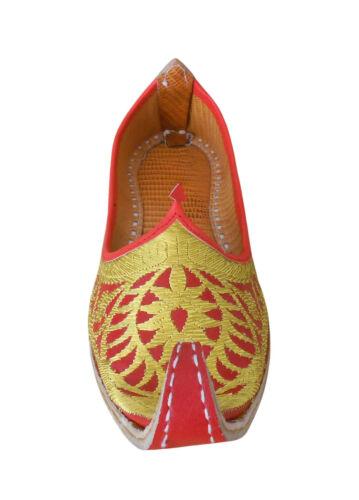 Men Shoes Leather Mojari Flip-Flops Punjabi Khussa Loafers UK 8-11.5 EU 41-45