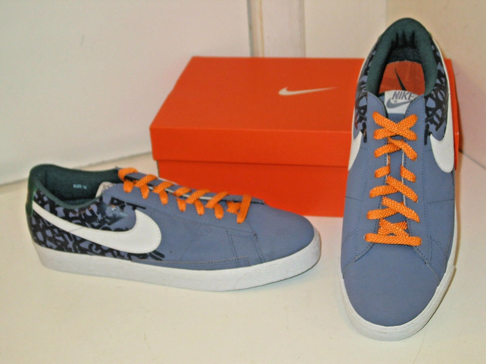 Nike NYX Blazer Low Gray / Purple Basketball Athletic Sneakers Shoes Mens 12 The latest discount shoes for men and women