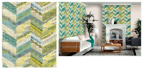 Arthouse Chevron Weave Lime Green Retro Geometric Wallpaper 610800 SAMPLE ONLY
