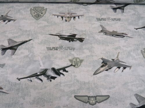 Digital Royal Air Force RAF Jets Designer Fabric Curtain Upholstery Crafs Blinds