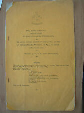 VINTAGE 1947 SHEFFIELD L.N.E.R. ATHLETIC ASSOCIATION ANNUAL REPORT BALANCE SHEET