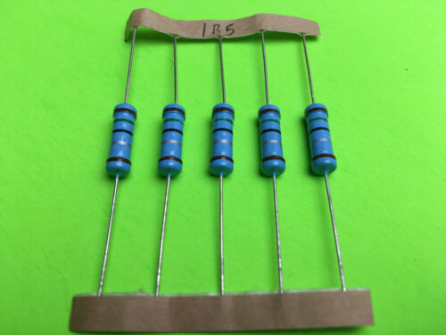 2W 2 Watt 1/% Tolerance Metal Film Resistor 5 Pieces  You pick value.