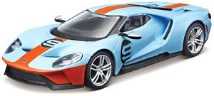 Bburago-1-32-2019-Ford-GT-Heritage-No-9-Diecast-Model-Race-Car-NEW-IN-BOX