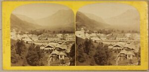 FRANCE-Sallanches-Photo-William-England-Stereo-Vintage-Albumine-ca-1865