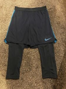 eee966089487 Nike Dry Squad Hybrid 2in1 Shorts Men s training Tights Football Gym ...