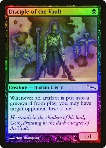 Disciple of the Vault FOIL Mirrodin NM Black Common MAGIC MTG CARD ABUGames