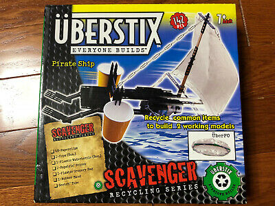 Uberstix Pirate Ship Construction Building Toy Uber Stix New