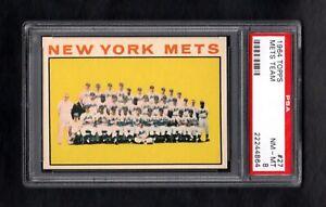 1964-TOPPS-27-METS-TEAM-CARD-PSA-8-NM-MT-CENTERED