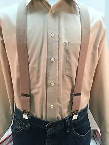 """XL Made in the USA Men/'s New 1.5/"""" Suspenders // Braces Lures on Blue Adj"""