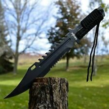 "13"" TACTICAL SURVIVAL Rambo Full Tang FIXED BLADE KNIFE Hunting w/ SHEATH"