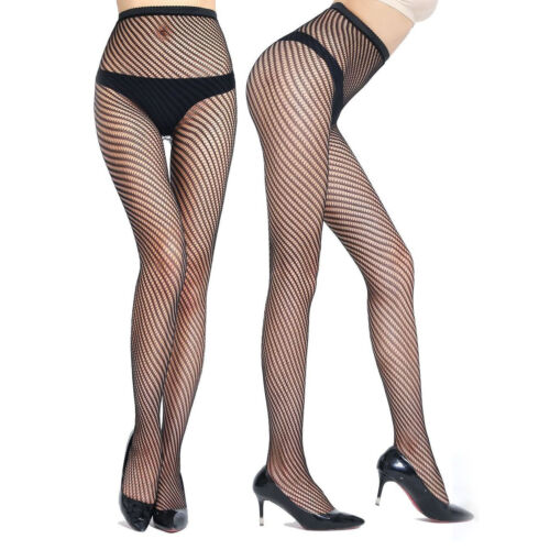 Women/'s Lace Fishnet Hollow Patterned Pantyhose Tights Stocking Lingerie Black