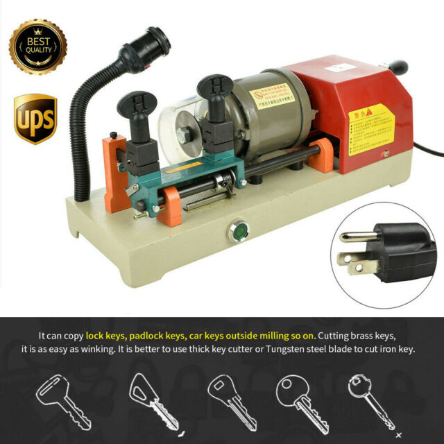 110V Key Duplicating Machine Copy Cutting Cutter Duplicator Locksmith Set Tool
