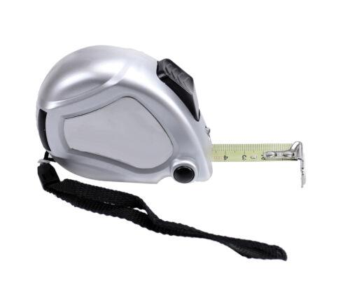 Roll-Maßband 5m mit Einzug Schlaufe Rücklaufsperre Metall Roll-Bandmaß Rollmeter