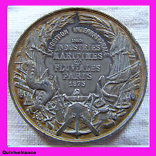 MED1936 - MEDAL EXPO INTERNATIONALE INDUSTRIES MARITIMES & FLUVIALES 1875 PARIS
