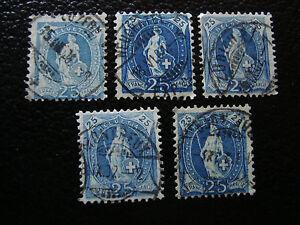 Switzerland-Stamp-Yvert-and-Tellier-N-73-x5-Obl-A8-Stamp-Switzerland-A