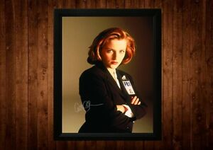 THE-X-FILES-SCULLY-GILLIAN-ANDERSON-SIGNED-PP-FRAMED-A4-GIFT-IDEAS-RETRO-TV