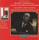 Dimitri Mitropoulos - Symphonie No. 3 & Sprach Zarathustra CD