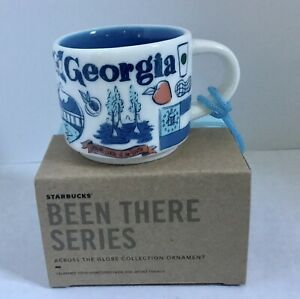 NIB Starbucks Been There Series Georgia Ornament 2 Oz Demitasse Mini Mug Cup